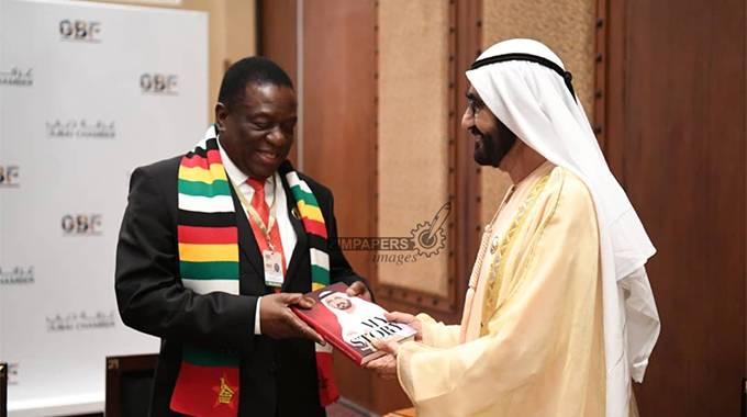 JUST IN: President meets Dubai ruler