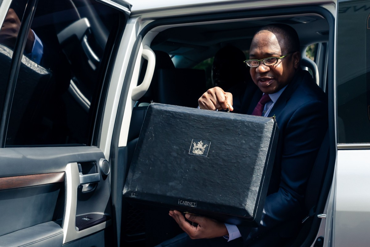 Zimbabwe Finance Minister Mthuli Ncube arrives at his country's parliament last week to present his budget. Photo: AFP