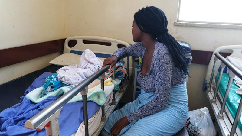 Poor facilities threaten the push up the maternal mortality rate in Zimbabwe, which is already high at an estimated 651 deaths per 100,000 live births [Farai Shawn Matiashe/Al Jazeera]