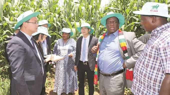 Chinese tour President's farm