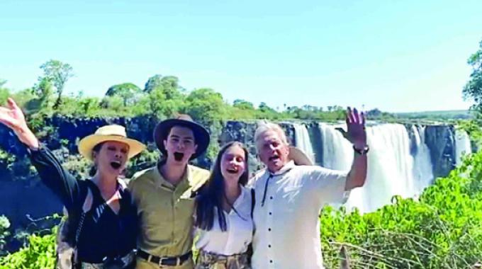 Celebrities, UEFA boss flock to Victoria Falls
