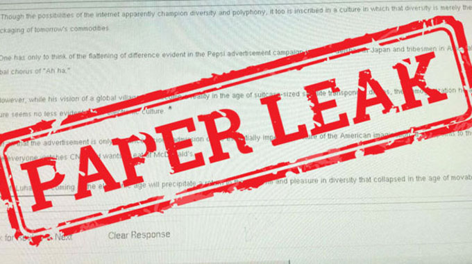 School dropout up for leaking exam paper