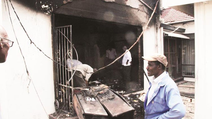 Fire guts Indian Embassy property