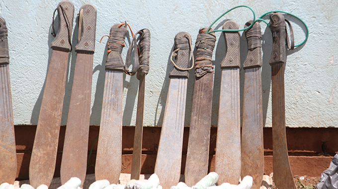 Harare machete suppliers locked up
