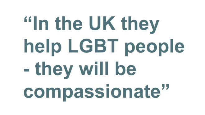 Quotebox: In the UK they help LGBT people - they will be compassionate
