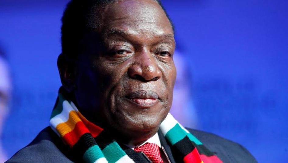 Zimbabwe's President Emmerson Mnangagwa attends the World Economic Forum (WEF) annual meeting in Davos, Switzerland January 24, 2018.