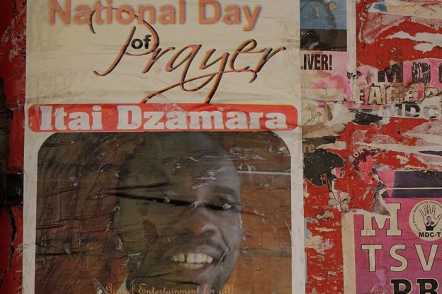 Poster advertising an event for Itai Dzamara