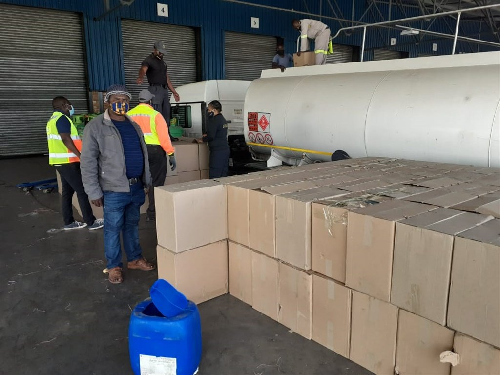 Illicit cigarettes worth nearly R7 million were found hidden in a petrol tanker on Monday.