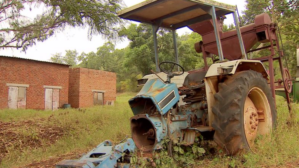 An old tractor on a farm in Zimbabwe