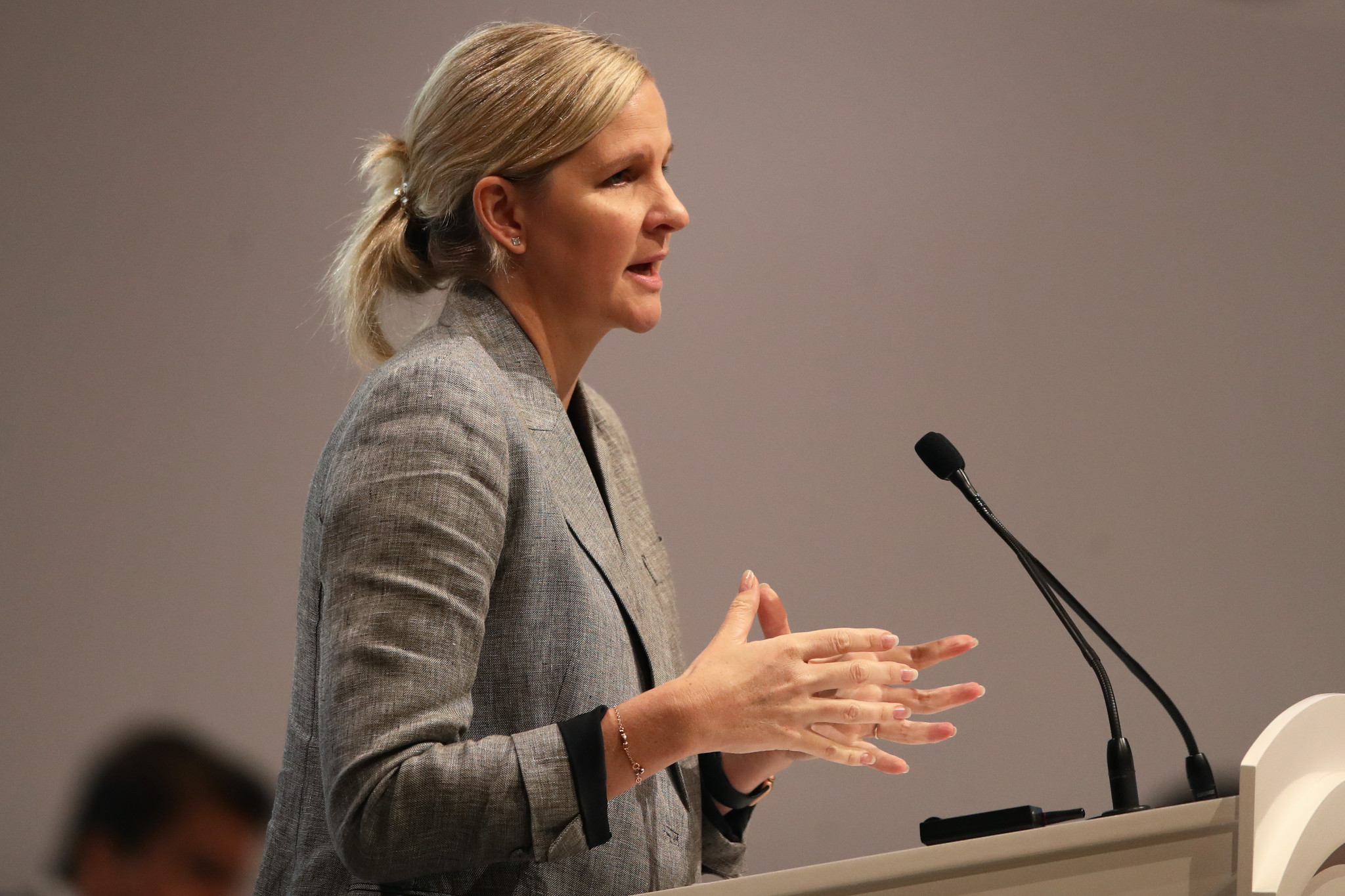 Kirsty Coventry has been speaking to athletes about the Zimbabwean Government's COVID-19 relief fund ©Getty Images
