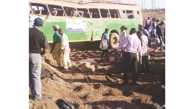 21 injured in bus accident