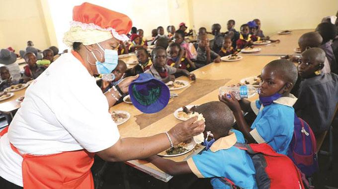First Lady takes feeding programme to Matabeleland