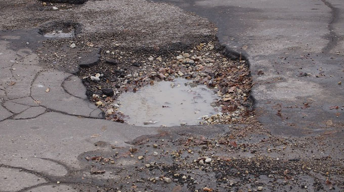 Pothole-riddled roads in Chitungwiza rile residents
