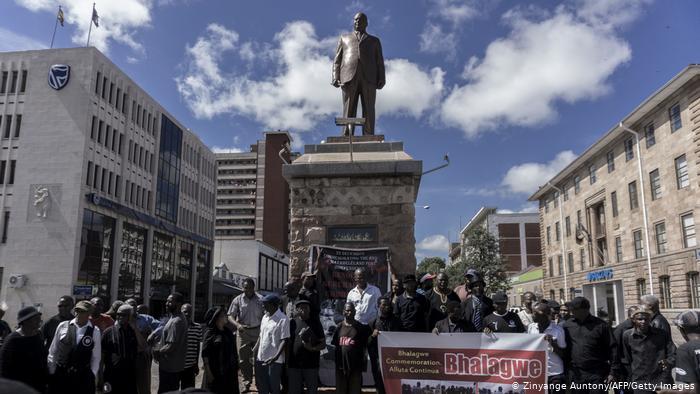 A statue of Joshua Nkomo in Bulawayo