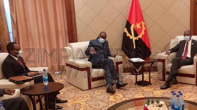 JUST IN: Zim, Angola seek to enhance ties