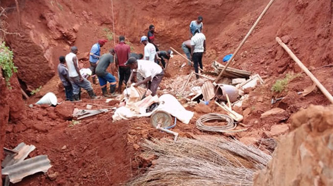 Shaft collapses, sinks 2 houses