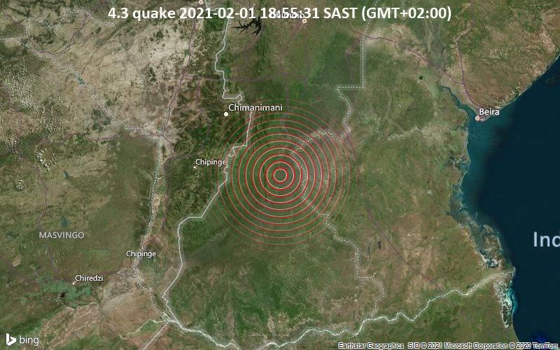4.3 quake 2021-02-01 18:55:31 SAST (GMT+02:00)