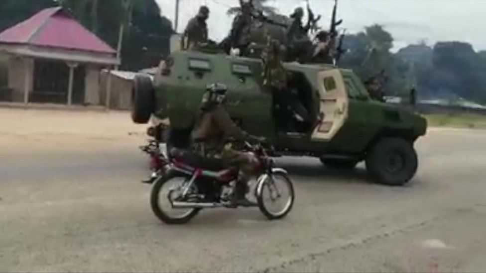 Militants in the area