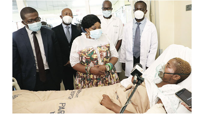 First Lady visits jumbo attack victim