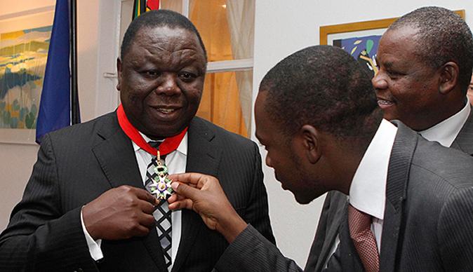 Morgan Tsvangirai Nelson Chamisa French award little child