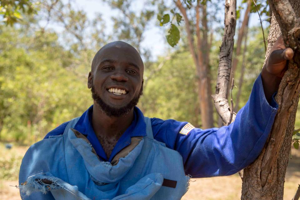 APOPO works hard to recruit local talent for demining operations such as in Zimbabwe.