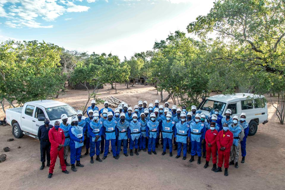 The APOPO team in Zimbabwe is working towards the goal of making the country mine-free by 2025.