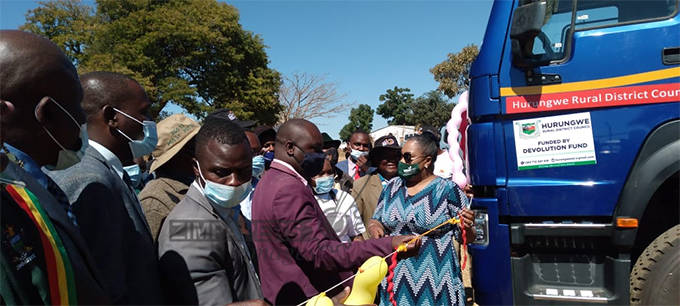 Hurungwe RDC's Devolution Funded equipment unveiled