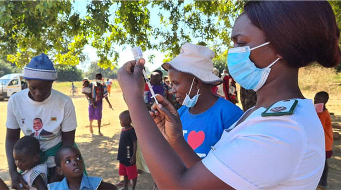 Huge turnout for typhoid vaccines in Mbire