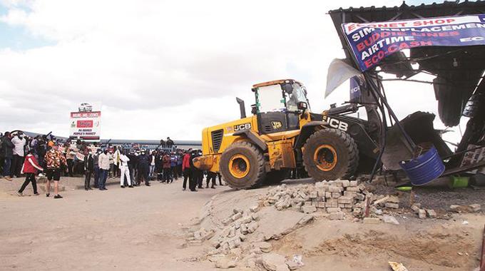 Blitz razes illegal structures