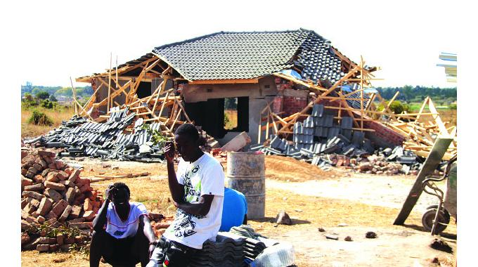 Defiant residents left stranded after demolition of homes