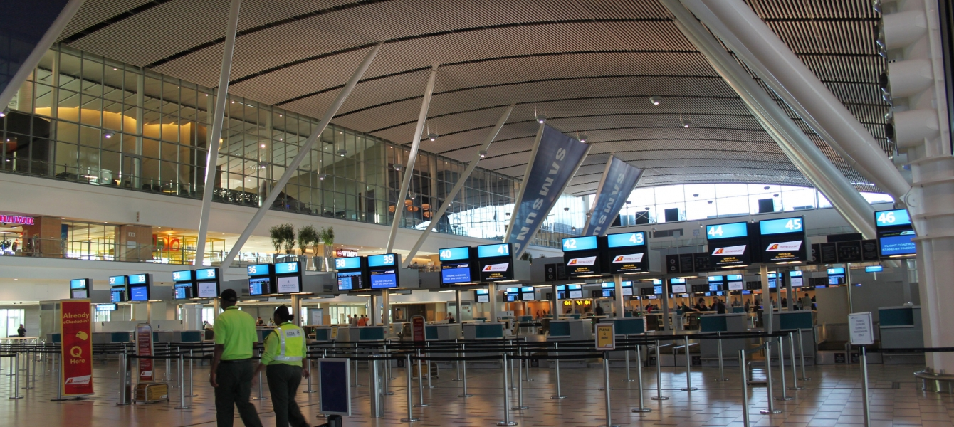 Early morning, Cape Town International Airport.