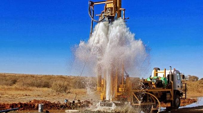 Highfield residents drill borehole