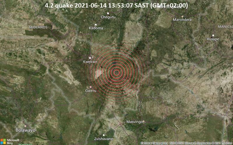 4.2 quake 2021-06-14 13:53:07 SAST (GMT+02:00)