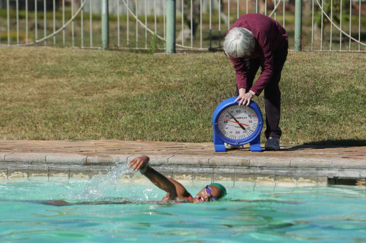 Donata Katai is seen during a swimming practice session in Harare, Zimbabwe, Saturday, July 10, 2021. The southern African nation is sending the black swimmer to the Olympics, the first from her country to the Games. Seventeen-year-old Katai won African youth titles and broke youth records once held by two-time Olympic champion Kirsty Coventry, who is not only Zimbabwe's most successful swimmer but also Africa's most decorated Olympian.