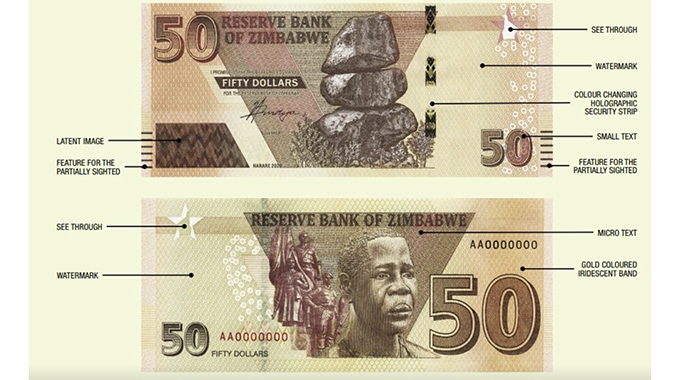 JUST IN: RBZ introduces new $50 notes