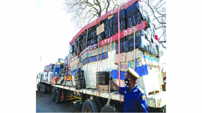 Goods smuggled from SA impounded