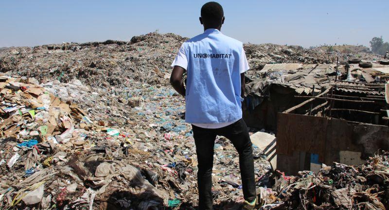 UN, Habitat, African, Clean, Cities, Platform's, PPE, Distribution, to, waste, pickers, in, Dandora, dumpsite, Nairobi, Kenya, 202