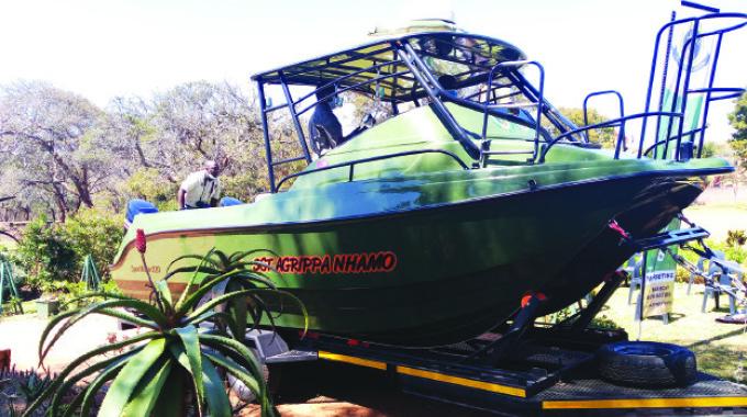 Boat gift strengthens ZimParks river patrols