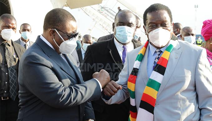 President Mnangagwa attends Hichilema inauguration