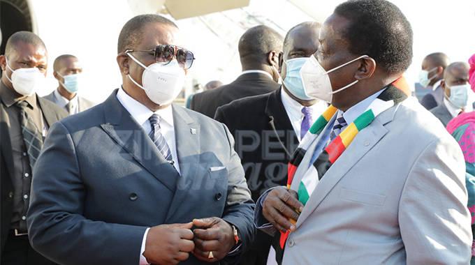 JUST IN: President Mnangagwa leaves for Hichilema inauguration