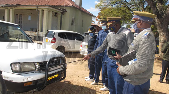 Police impound vehicles fitted with bar lights