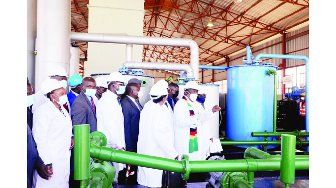 Zim pushes for accelerated transformation…Oxygen plant harnesses local skills