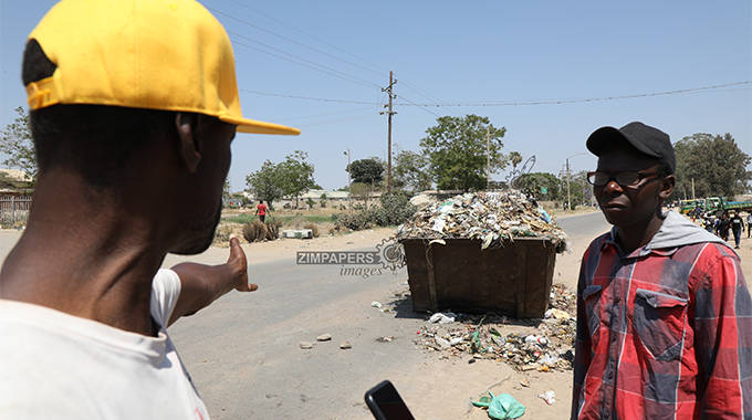 Chitungwiza council dumps skip bin on busy road