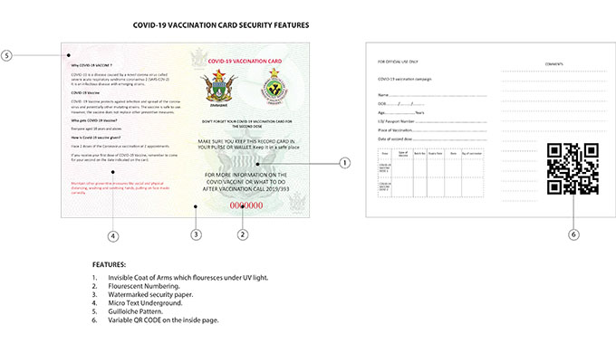 Zimbabwe launches new Covid-19 vaccination card with security features